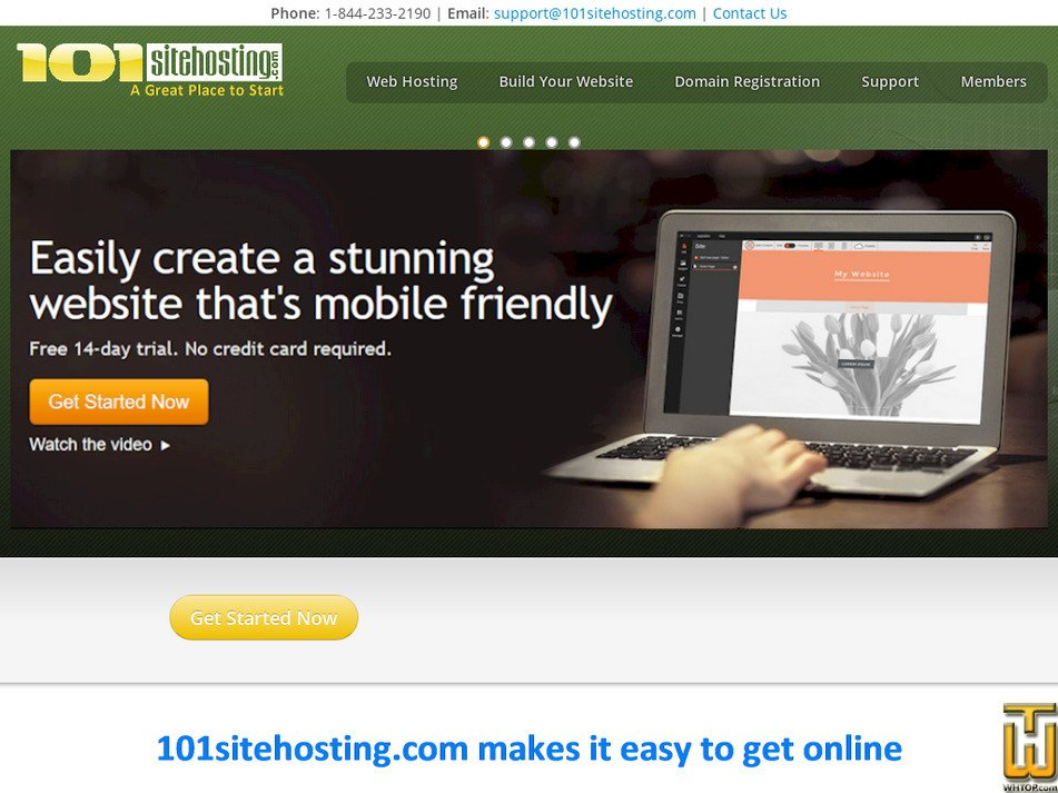 101sitehosting.com Screenshot