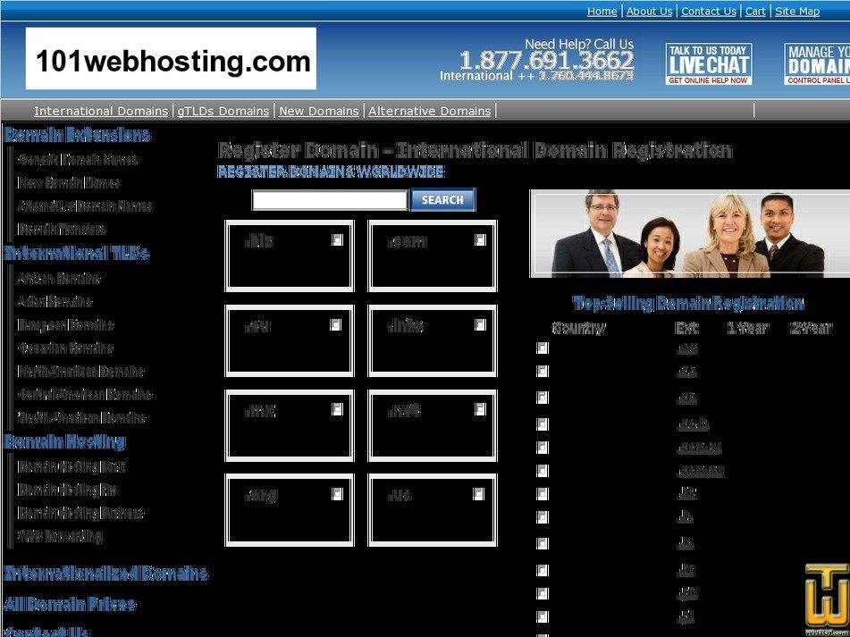 101webhosting.com Screenshot