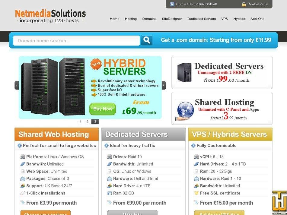 123-hosts.co.uk Screenshot