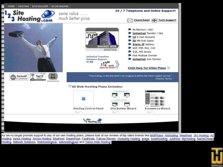 123-site-hosting.com Screenshot