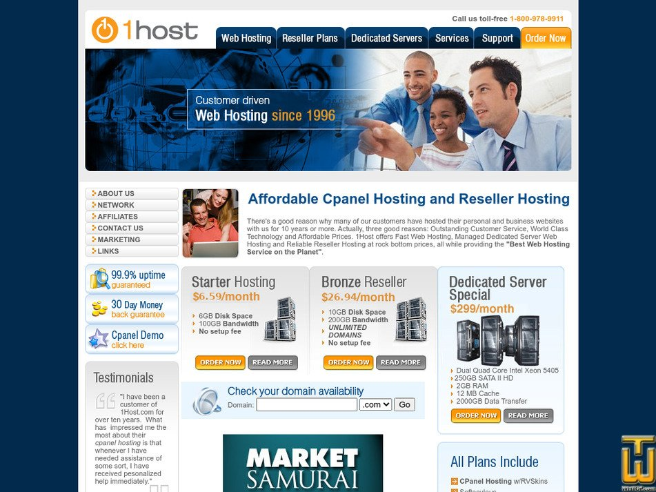 1host.com Screenshot