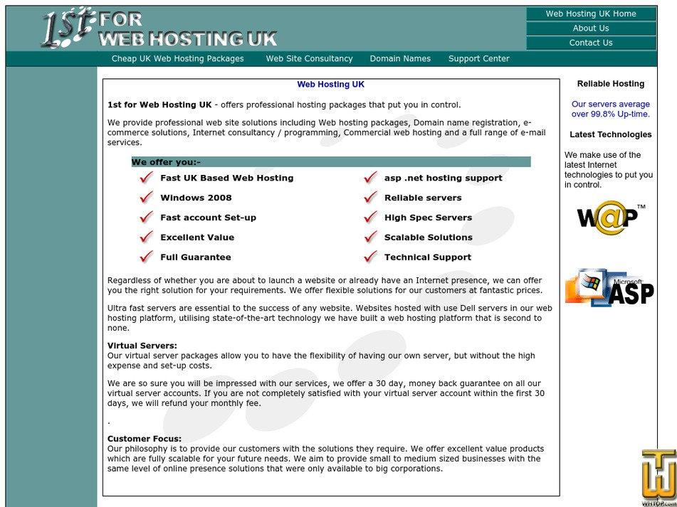 1stforwebhostinguk.com Screenshot