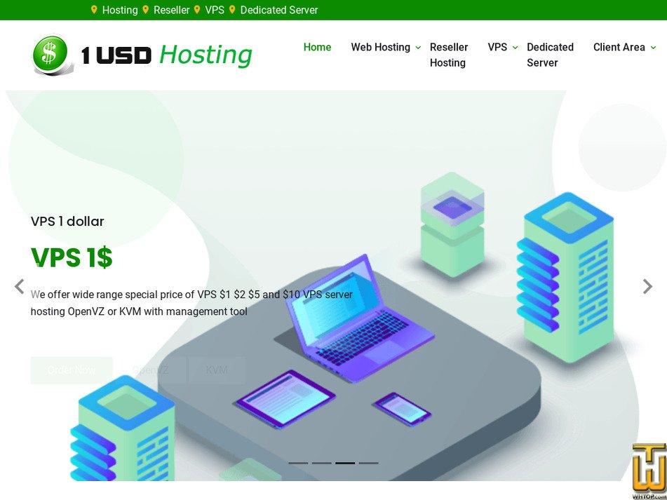 1usdhosting.com Screenshot