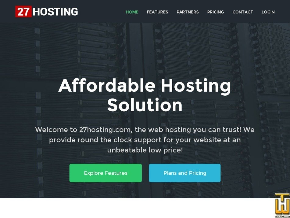 27hosting.com Screenshot