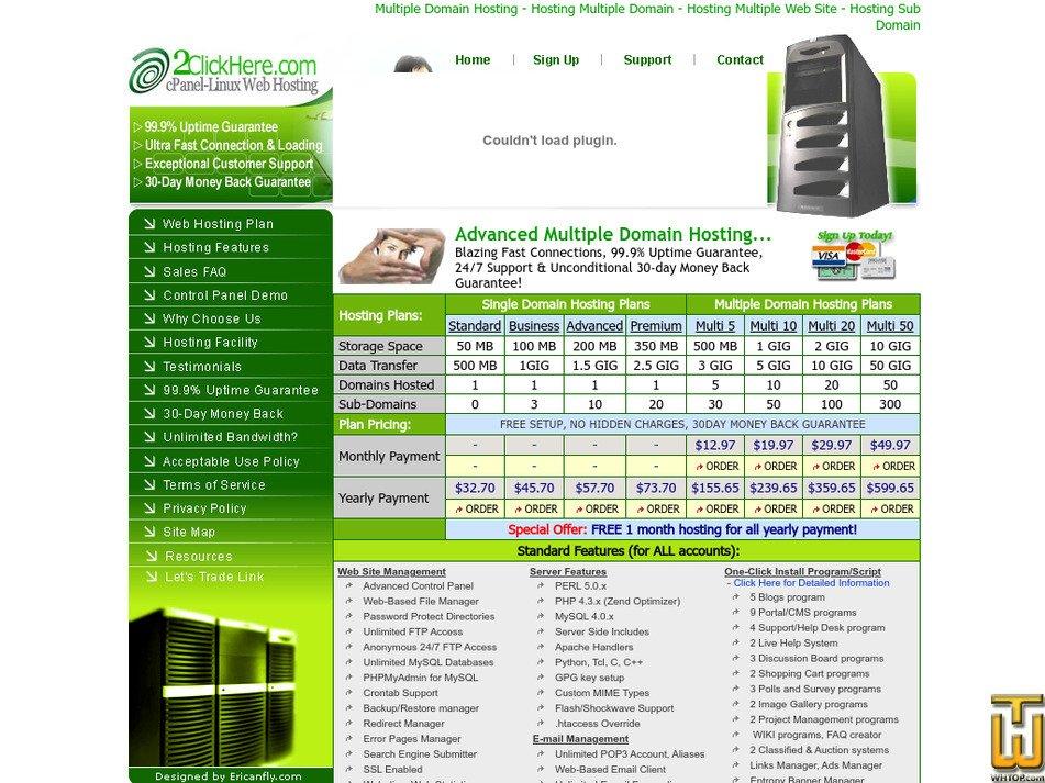 2clickhere.com Screenshot
