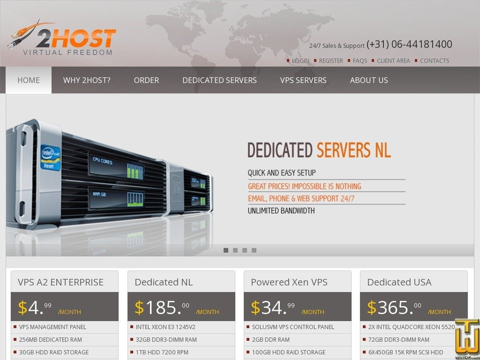 2host.com Screenshot
