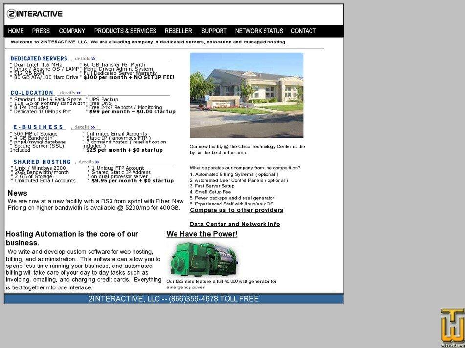 2interactive.com Screenshot