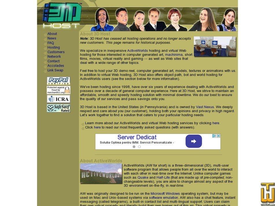 3dhost.net Screenshot