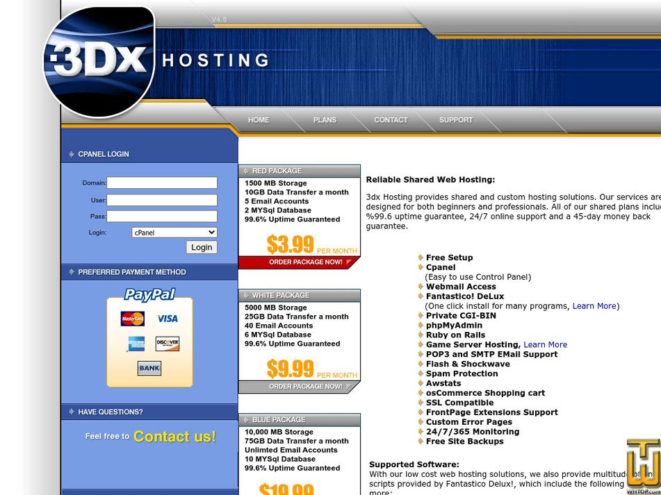 3dxhosting.com Screenshot