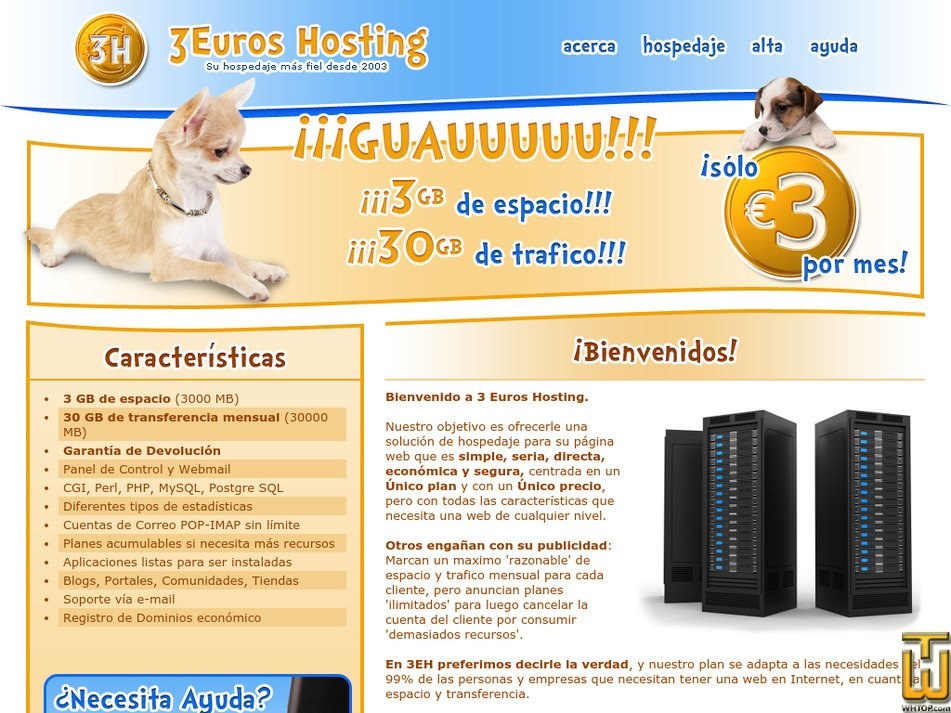 3euroshosting.com Screenshot