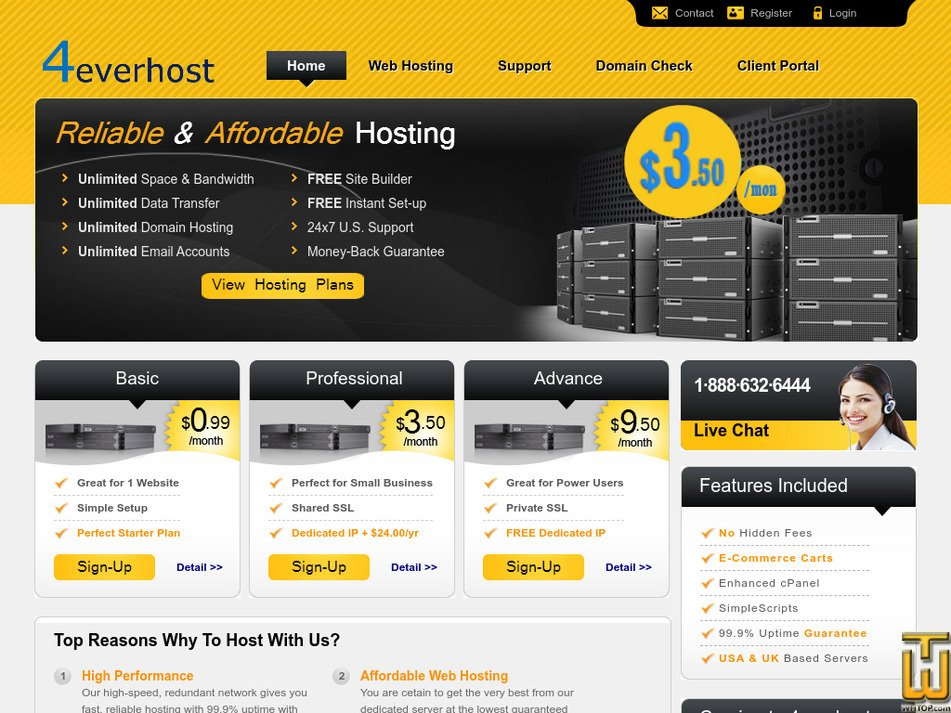 4everhost.com Screenshot