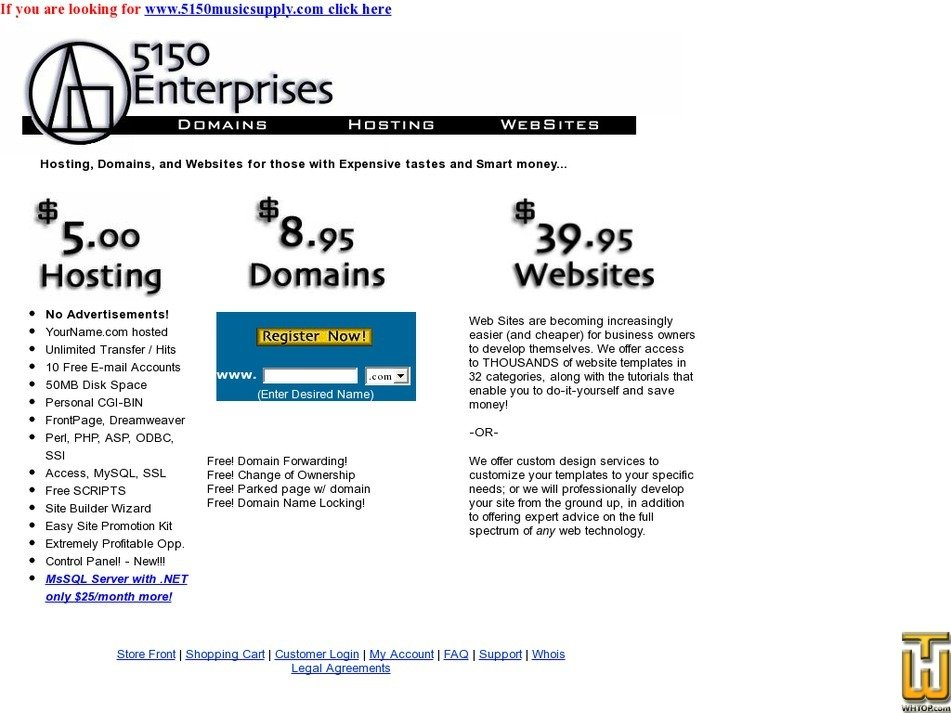 5150enterprises.com Screenshot