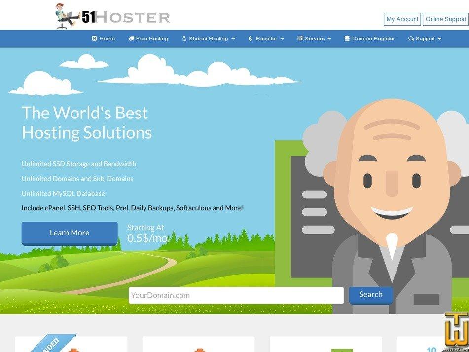 51hoster.com Screenshot