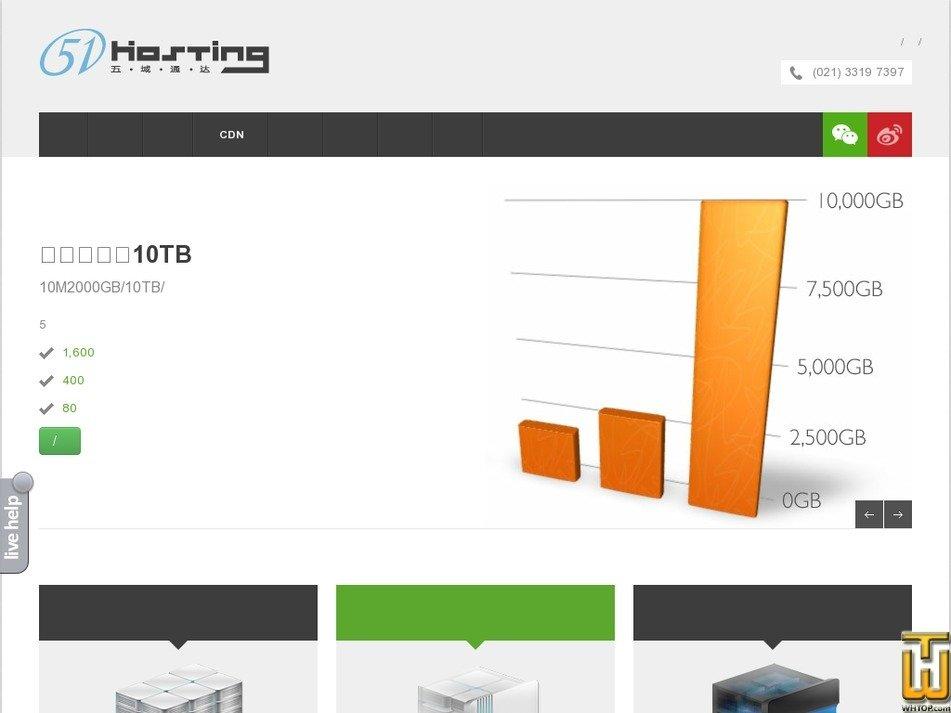 51hosting.com Screenshot