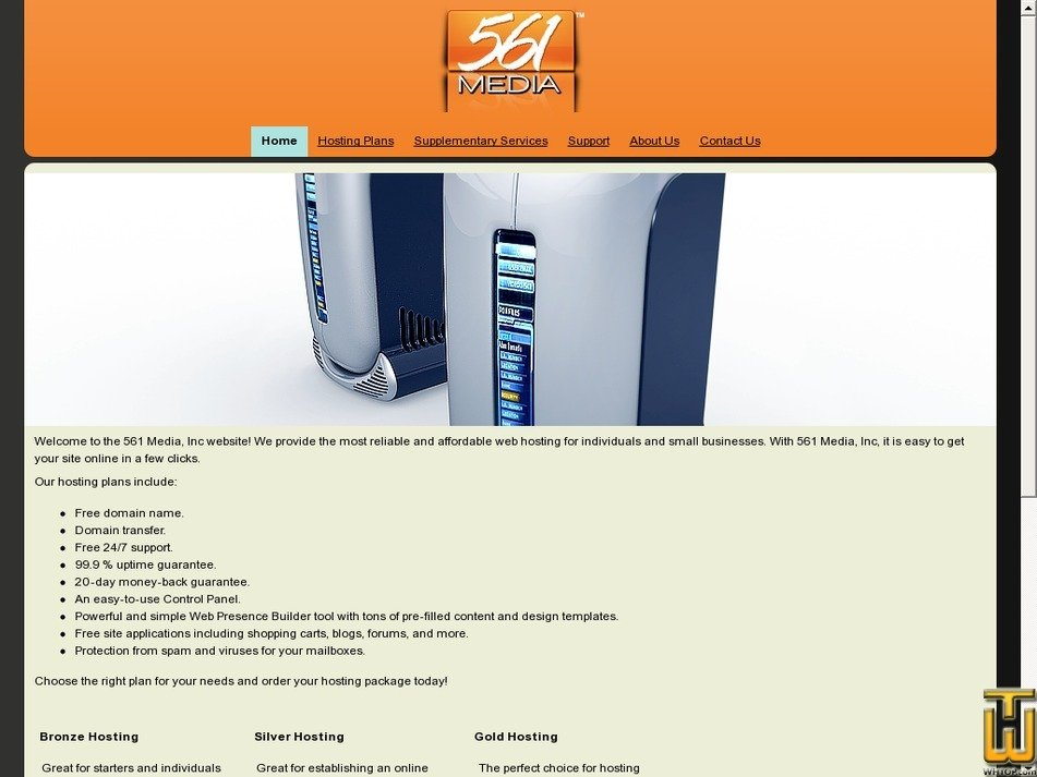 561hosting.com Screenshot