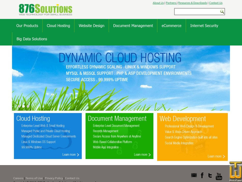 876solutions.com Screenshot
