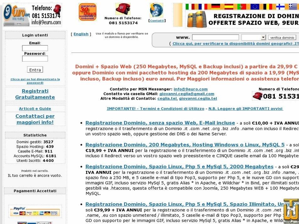 9euro.com Screenshot