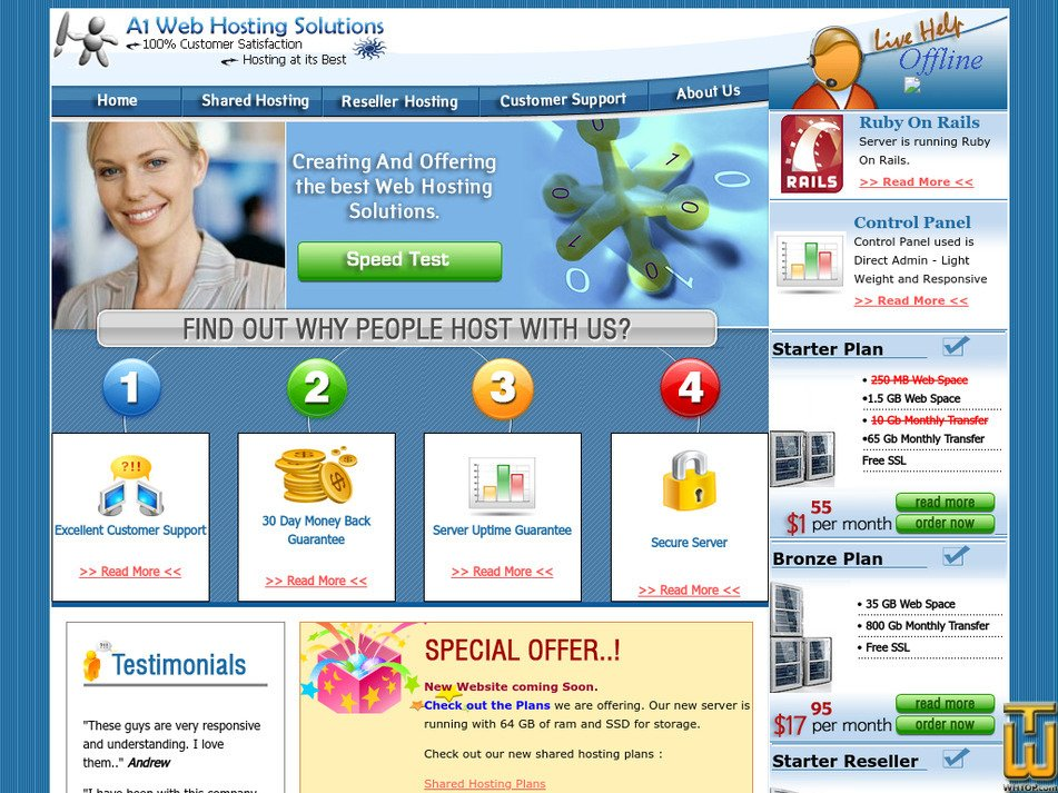 a1whs.com Screenshot