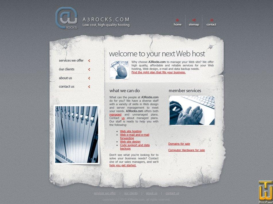 a3rocks.com Screenshot