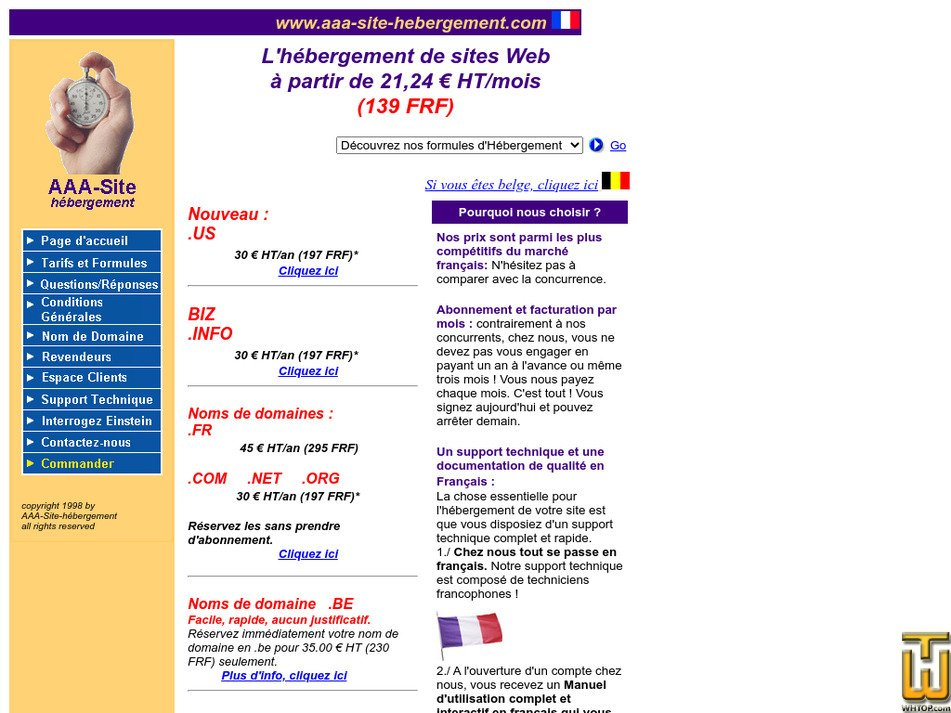 aaa-site-hebergement.com Screenshot