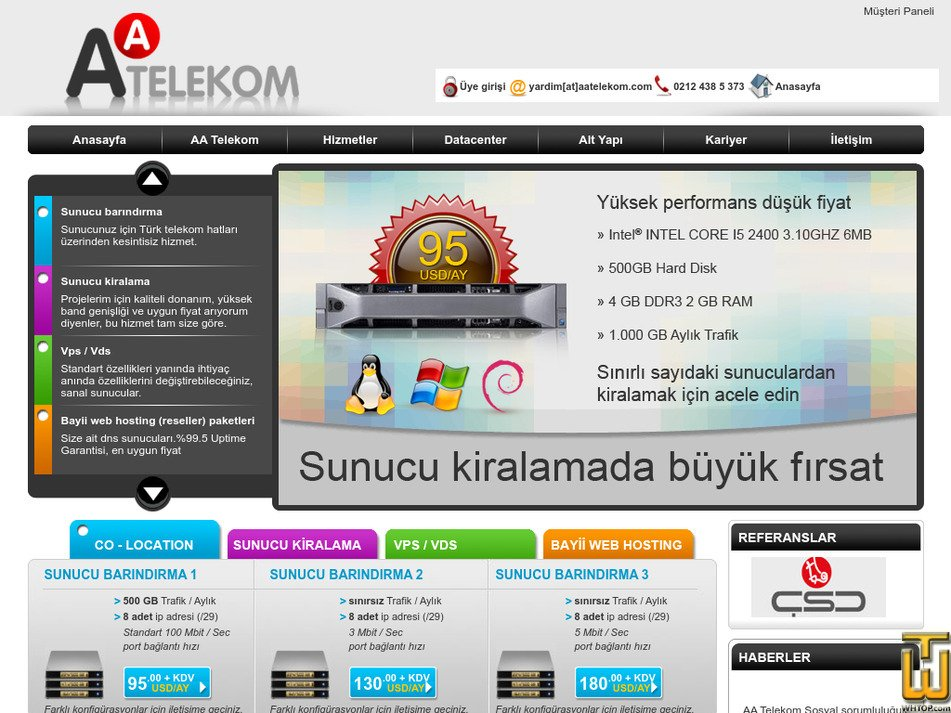 aatelekom.com Screenshot