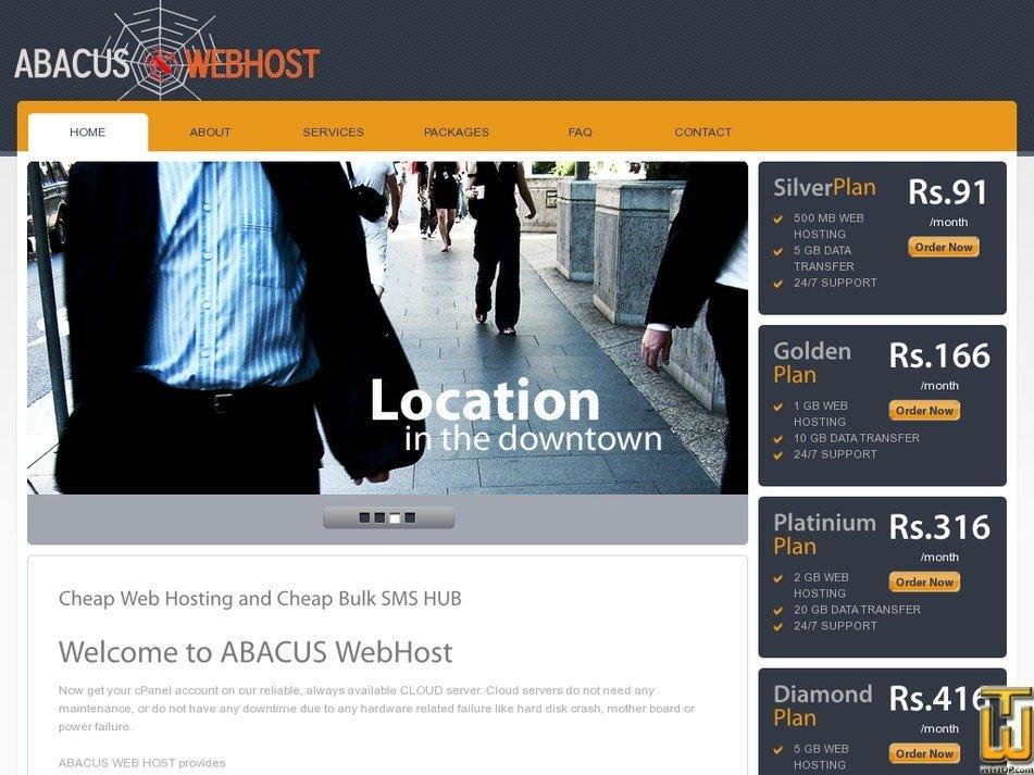 abacuswebhost.in Screenshot