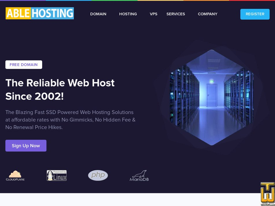 ablehosting.com Screenshot