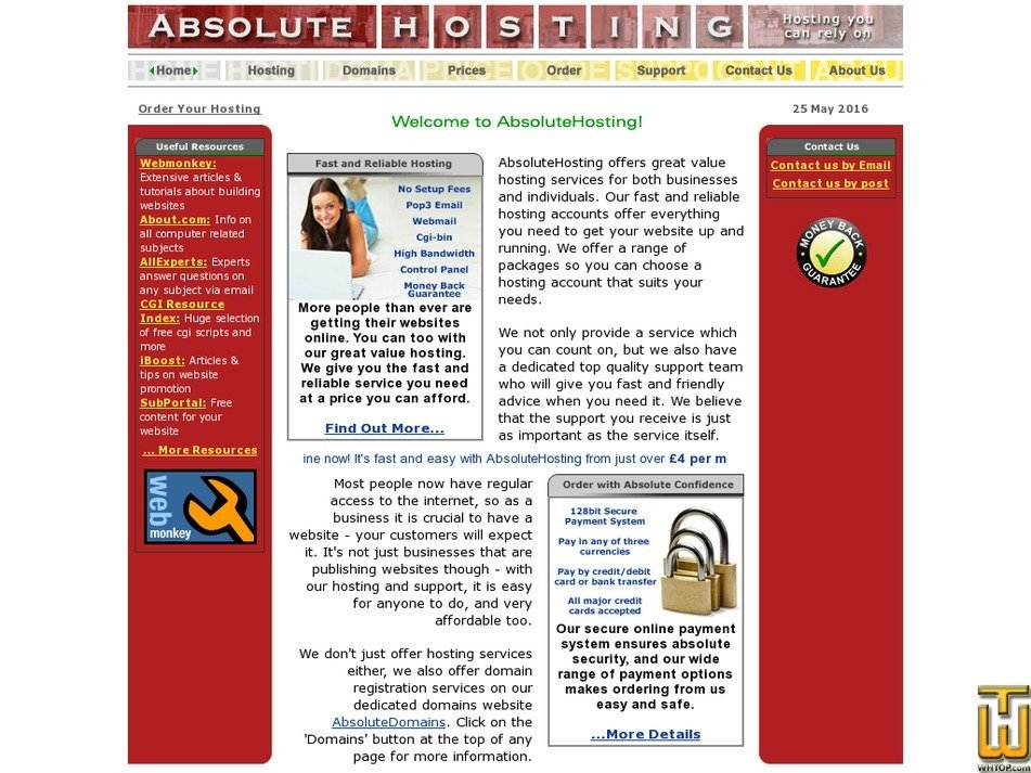 absolutehosting.co.uk Screenshot