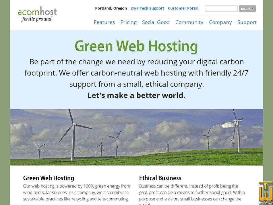 acornhost.com Screenshot