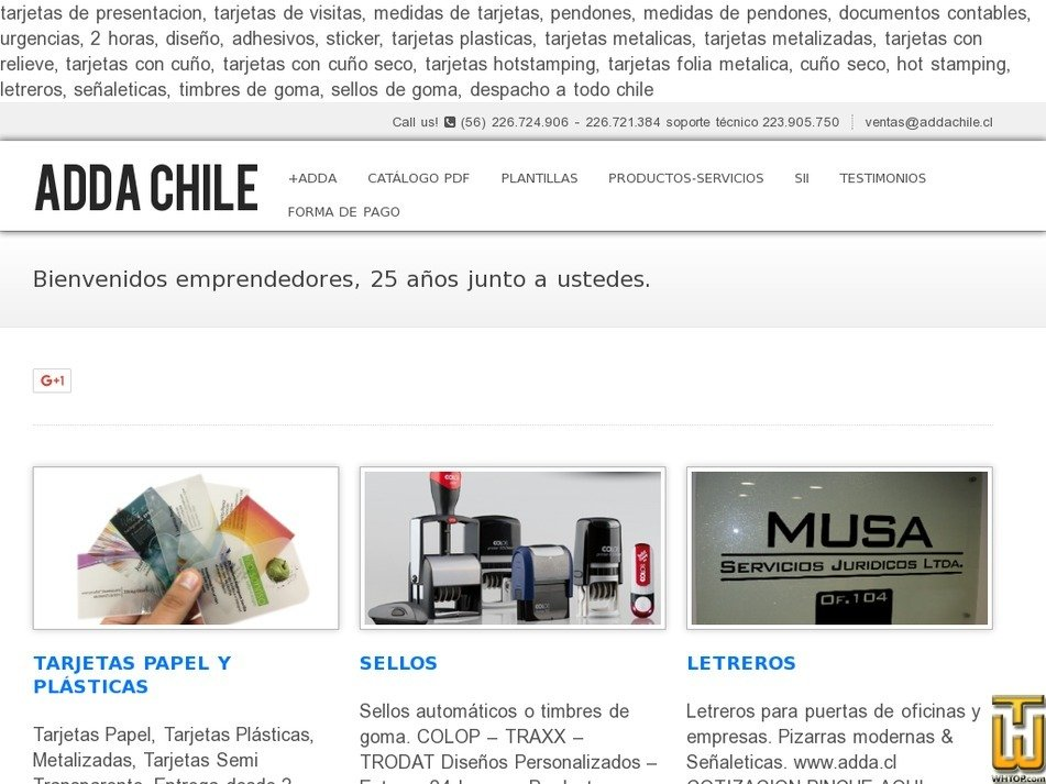 addachile.cl Screenshot
