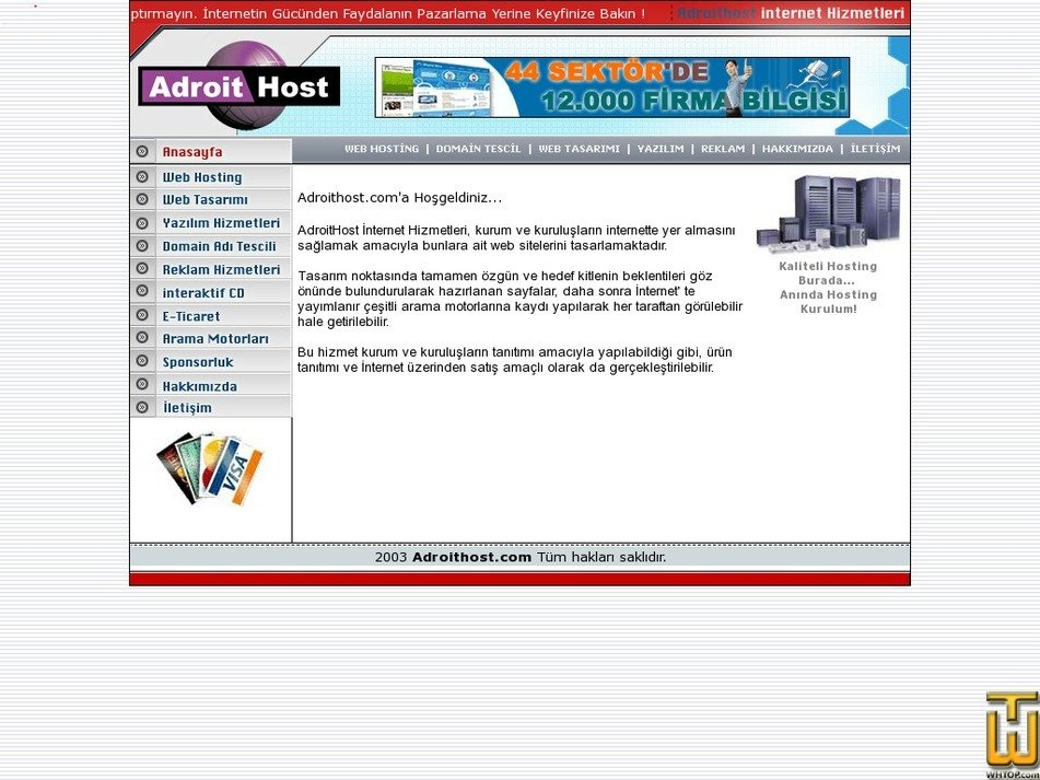 adroithost.com Screenshot
