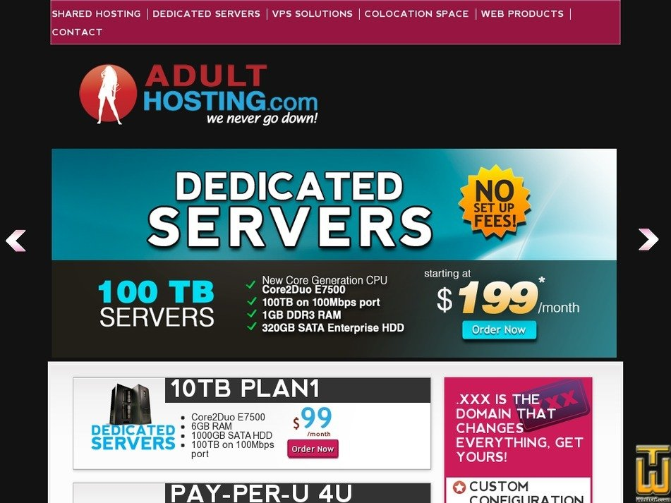 adulthosting.com Screenshot