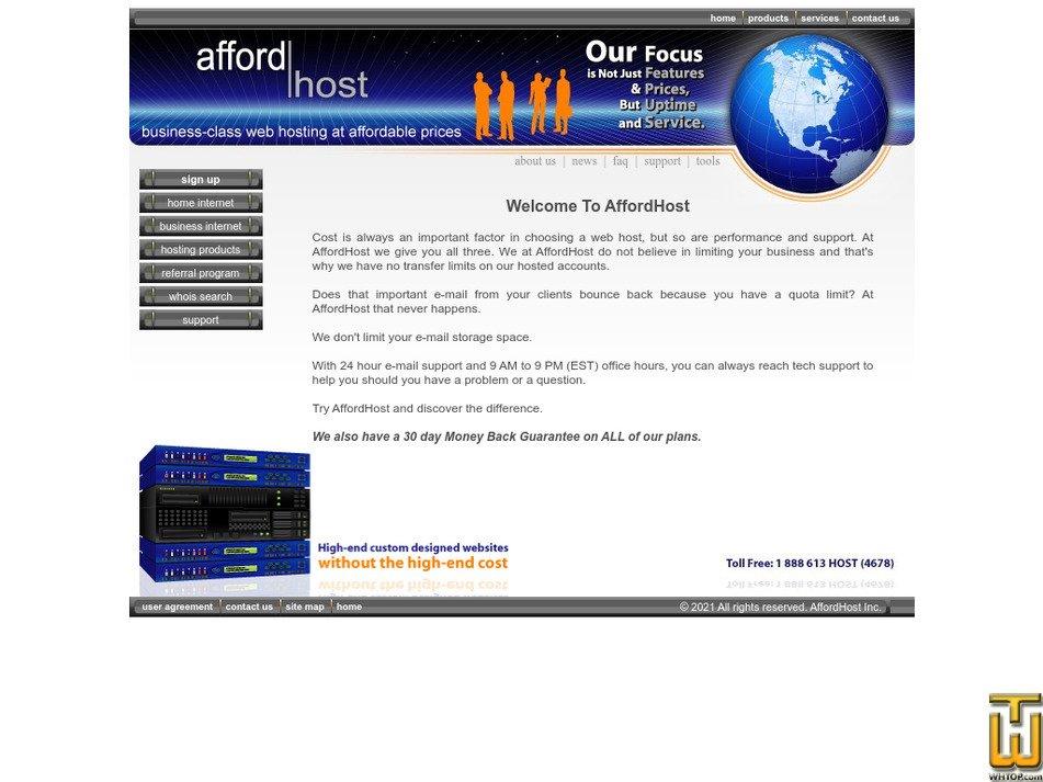 affordhost.com Screenshot