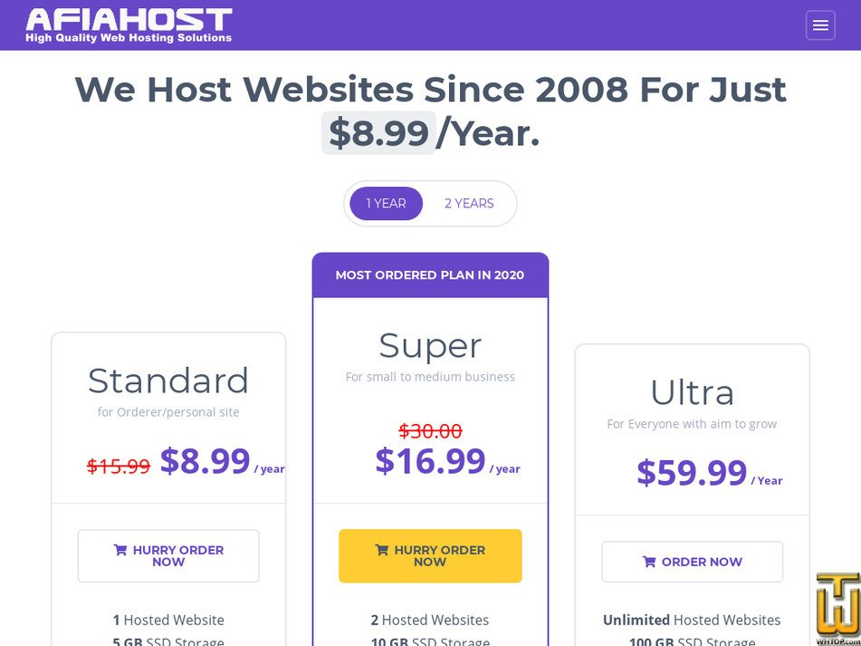 afiahost.com Screenshot