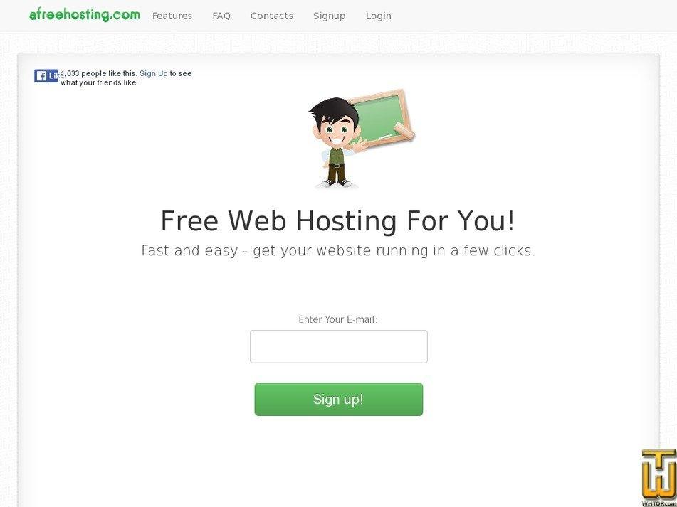 afreehosting.com Screenshot