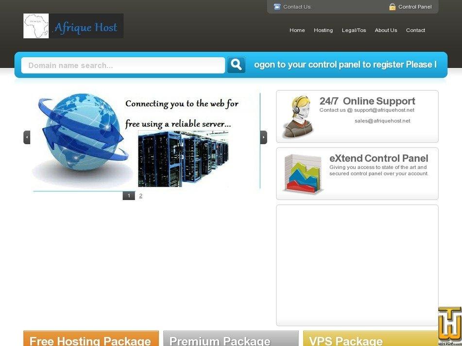 afriquehost.net Screenshot