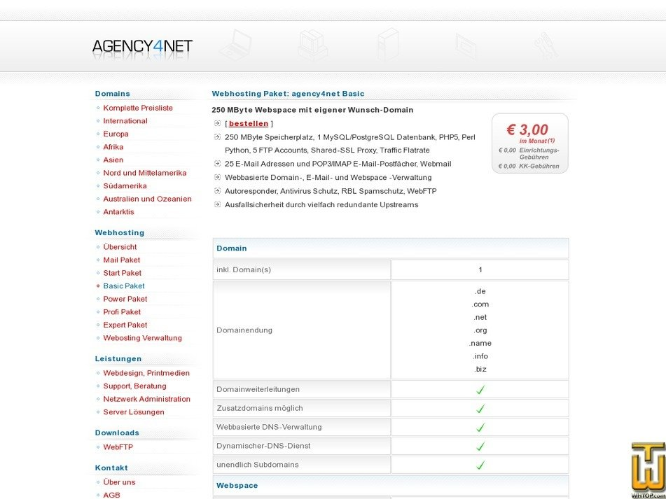 agency4net.de Screenshot