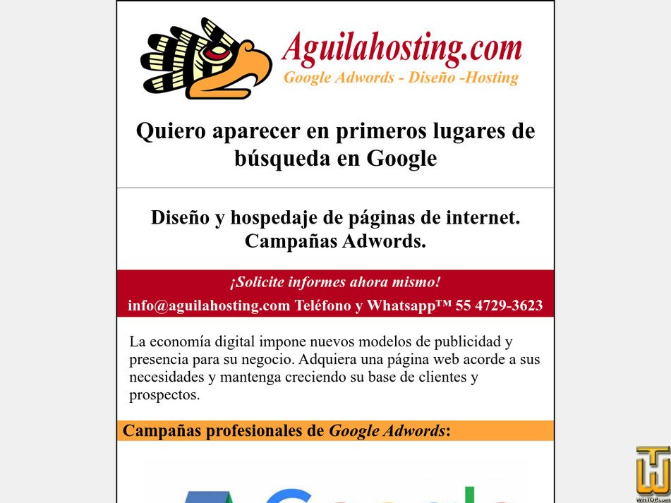aguilahosting.com Screenshot