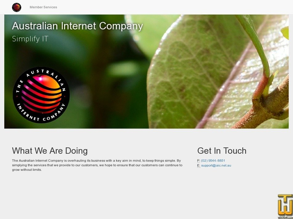 aic.net.au Screenshot