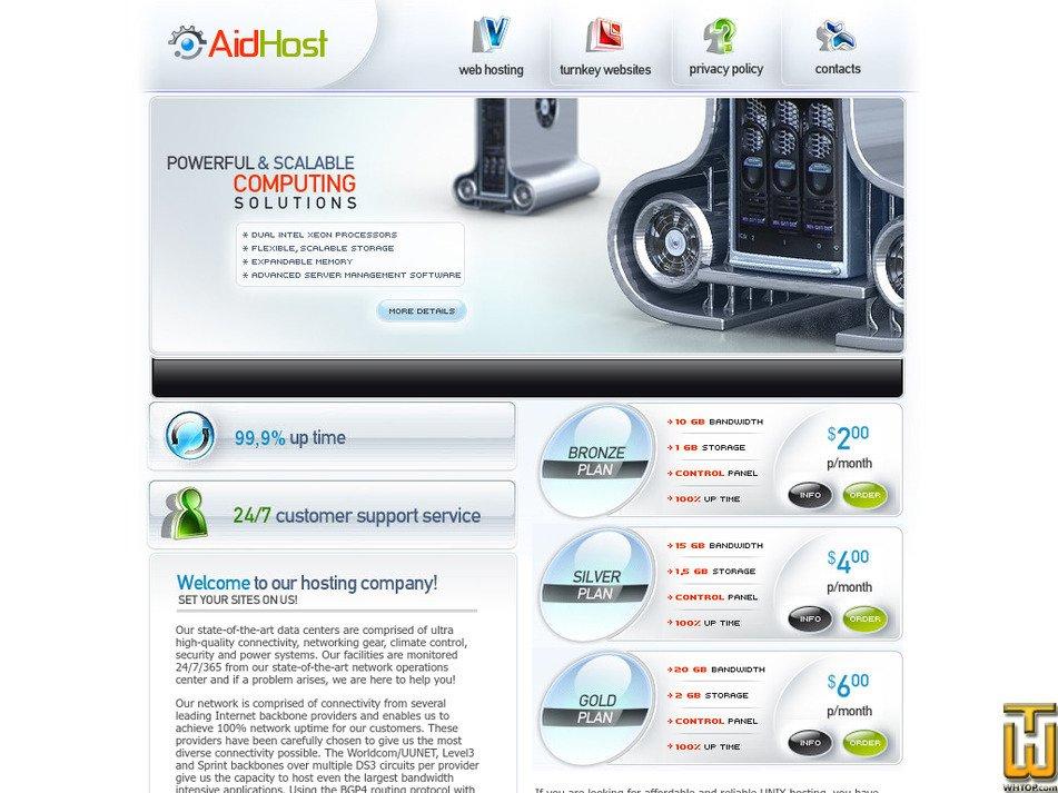 aidhost.com Screenshot