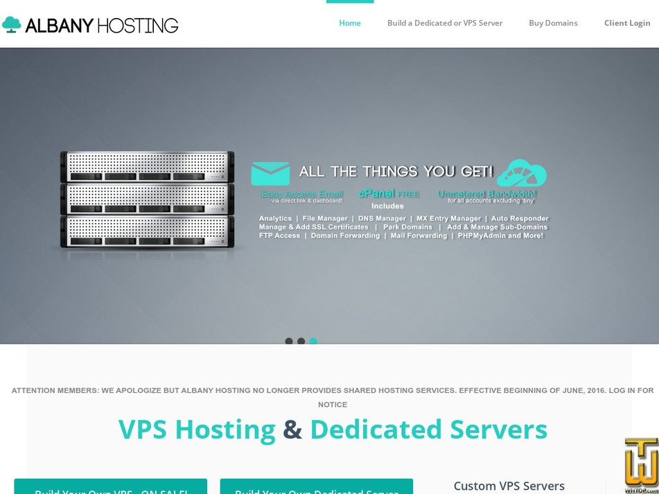 albanyhosting.com Screenshot