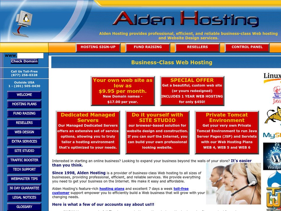aldenhosting.com Screenshot