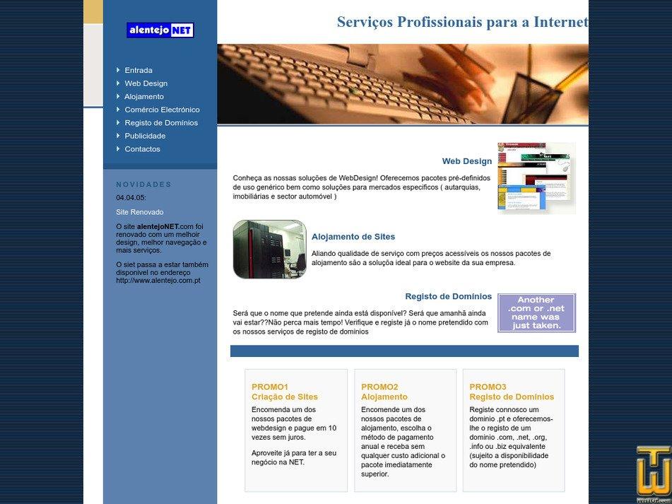alentejonet.com Screenshot