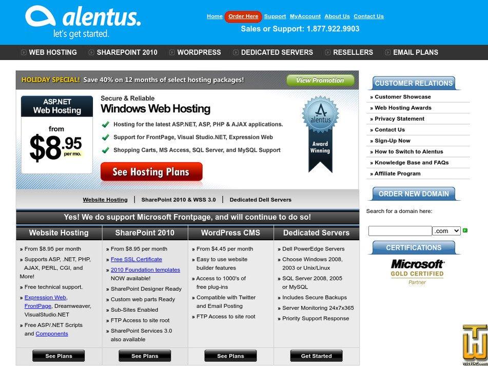 alentus.com Screenshot