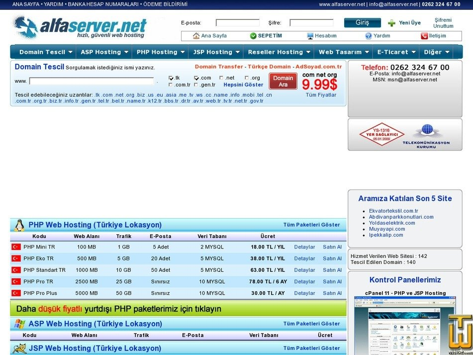 alfaserver.net Screenshot