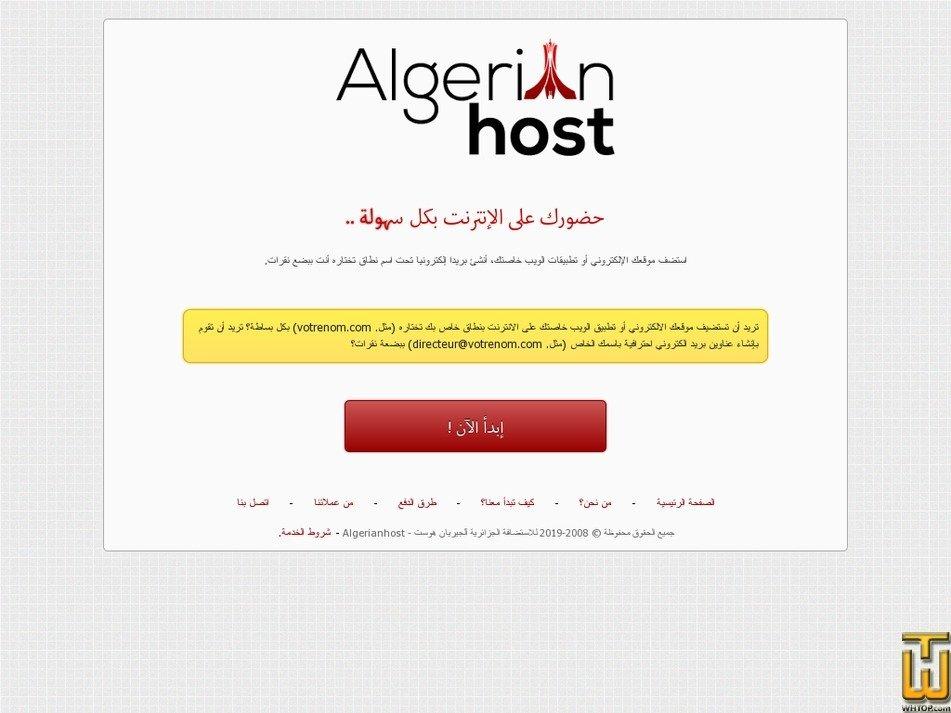 algerianhost.com Screenshot