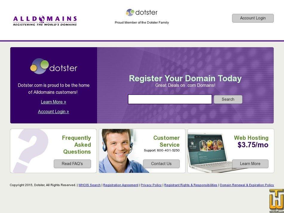 alldomains.com Screenshot