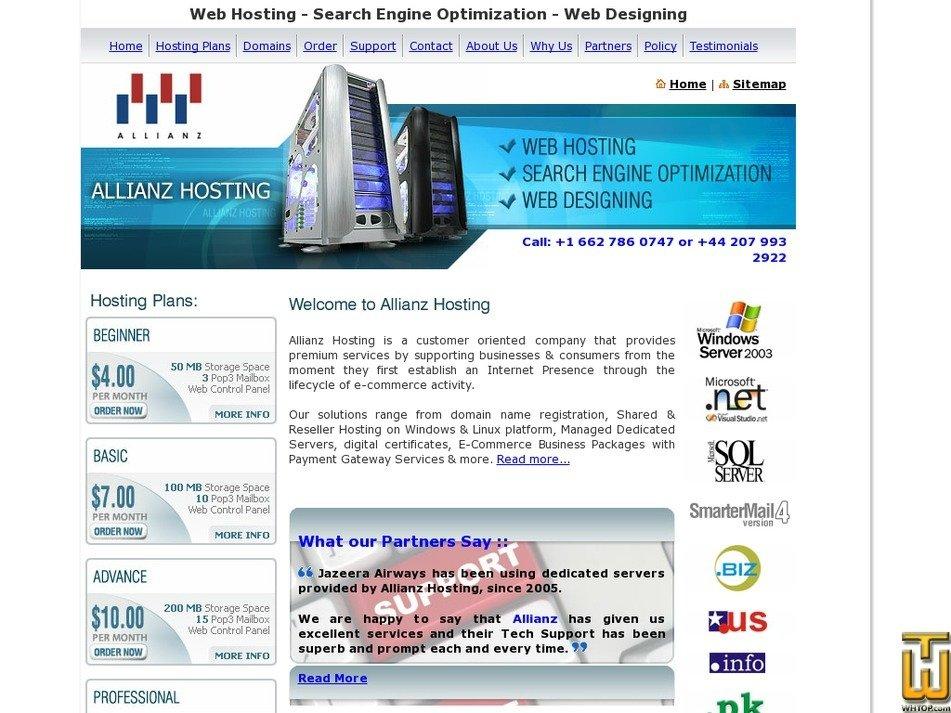 allianzhost.com Screenshot