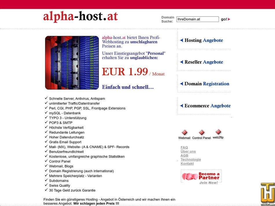 alpha-host.at Screenshot
