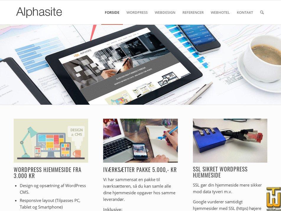 alphasite.dk Screenshot